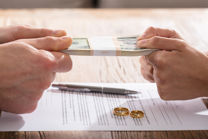 Couple selling assets before divorce.